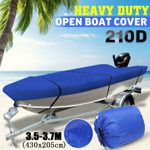 Waterproof-Heavy-Duty-210D-Open-Boat-Cover-Trailerable-Fish-Ski-V-Hull-Runabouts