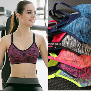 Femme-Soutien-gorge-de-Sport-Top-Gilet-Gym-Fitness-Sport-Yoga-Jogging-Running