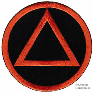 ALCOHOLICS-ANONYMOUS-iron-on-EMBROIDERED-PATCH-AA-black-orange-SOBRIETY-LOGO