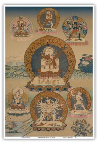 Cakrasamvara Tantra Vintage Tibetan Thangka Buddhist Painting Print