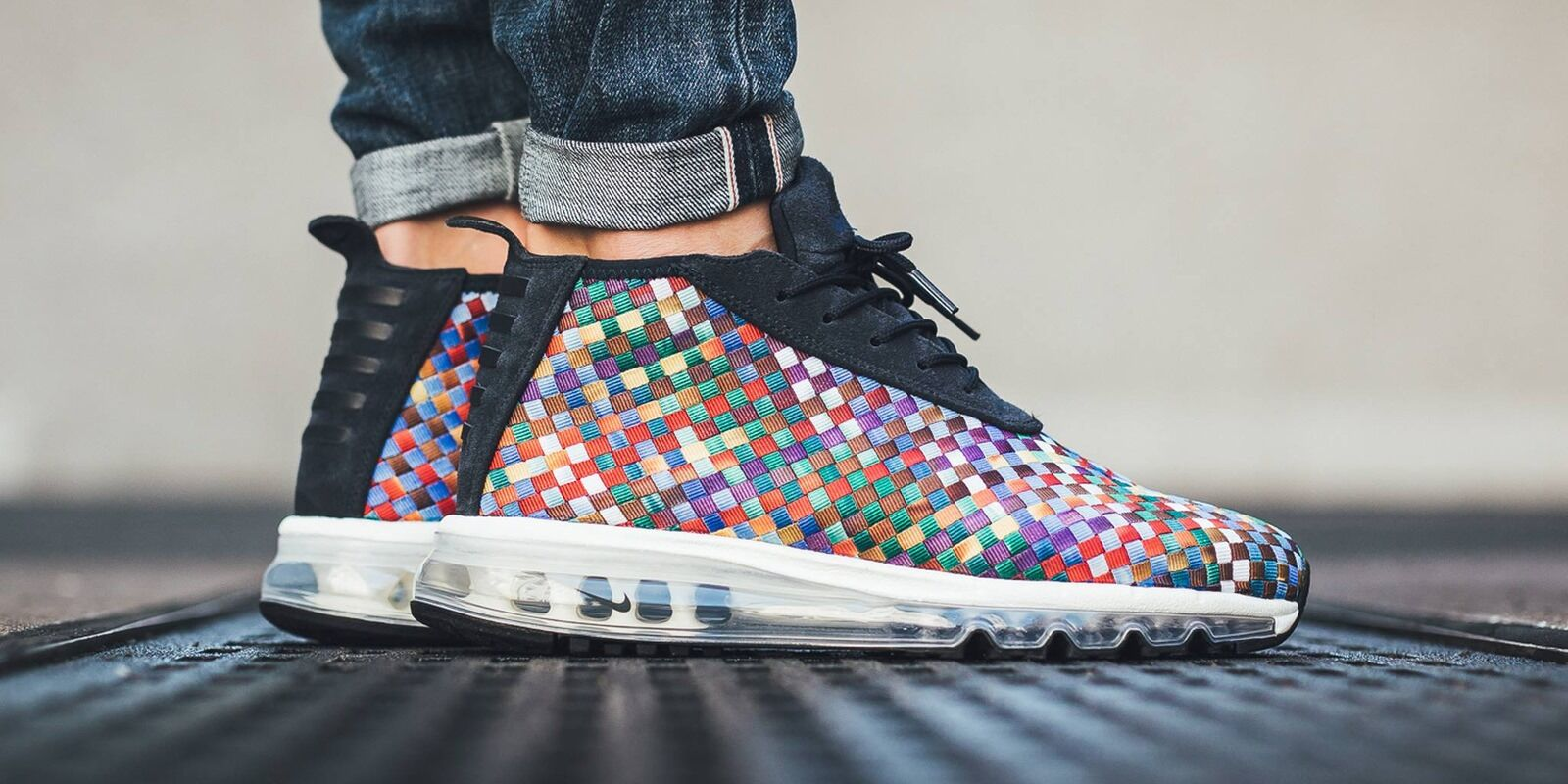 Nike Air Max Woven Boot SE Men's Shoe, Size 10.5 (AH8139-400) MULTICOLORED