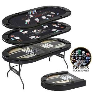 Details about 5 In 1 Multi Game Table Poker Blackjack Checker Chess  Backgammon Folding 100 PCS