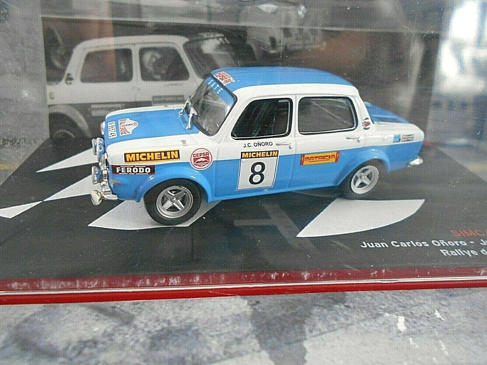 SIMCA 1000 S Rally Orense Spanien Rallye 1975 Ongold IXO Altaya RAR 1 43