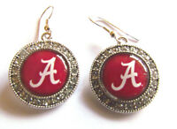 Earrings University Of Alabama Round Dome Style Rhinestone Accents