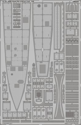 Eduard 1 48 DKM U-Boat Type VIIC U-552 (WWII) Part 1 - Hull