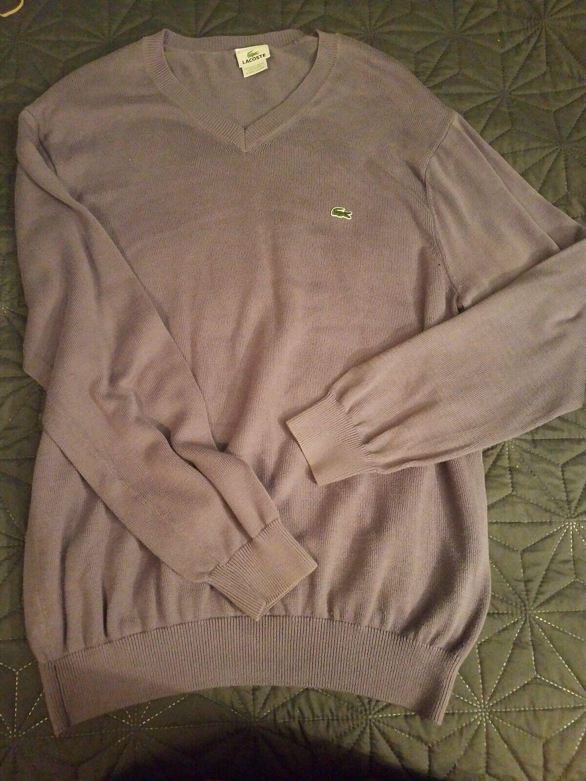 LaCoste - Mens [6] Purple 100% Cotton Sweater