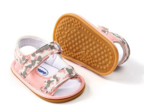 Child Boy Girl Rubber Soles Trainers Infant Baby Summer Sandals First Step Shoes