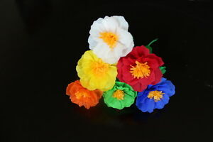 Set Of 12 Small Crepe Paper Flowers 1 W Ebay