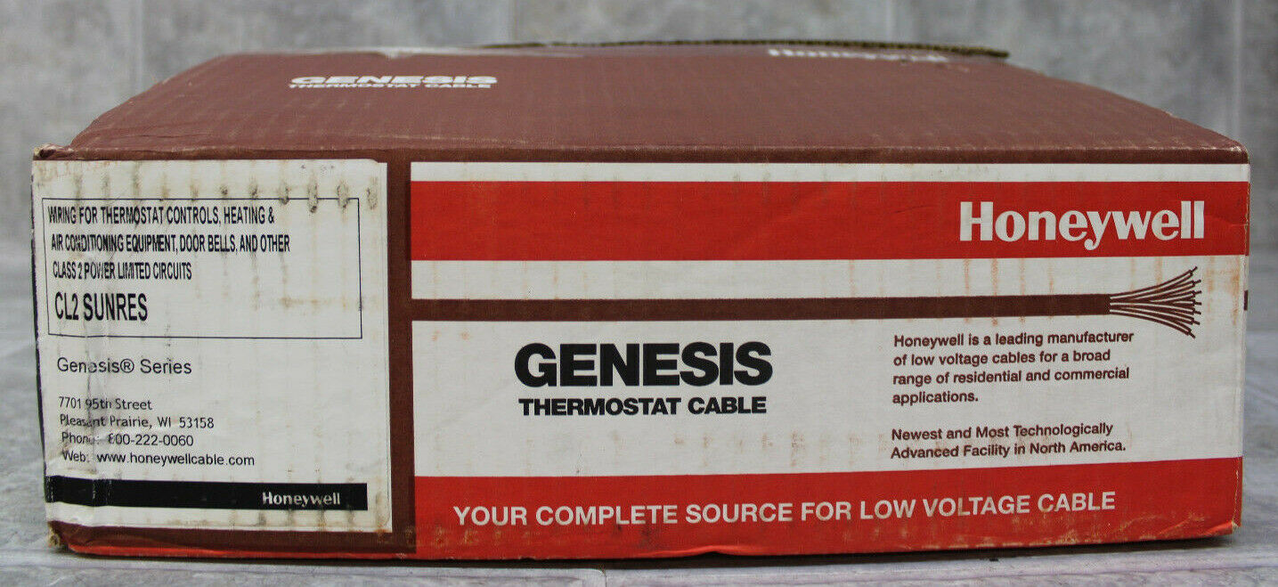 Honeywell Genesis 18//5 Thermostat Wire 250/' Roll #4713 18 AWG 5 Solid Conductors