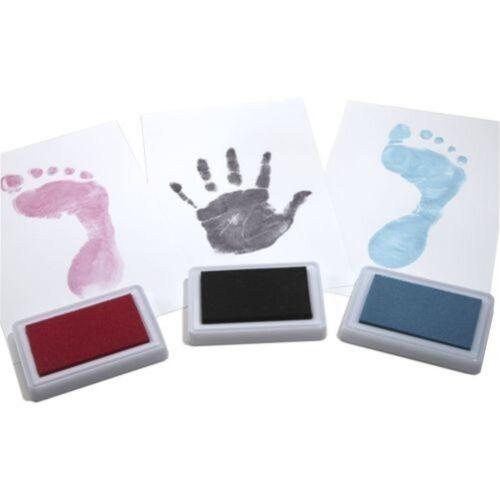 Couleur Bébé Sûr Réutilisable Main /& Pied Imprimé Souvenir Encre Patin,Enfants