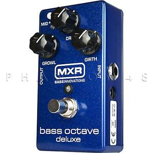 mxr m288 bass octave deluxe by dunlop dual voice guitar effects pedal new 710137041851 ebay. Black Bedroom Furniture Sets. Home Design Ideas