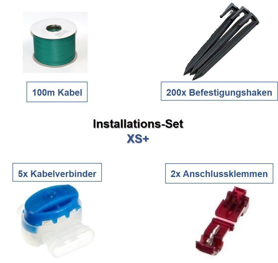 Installation Set XS+ Gardena R80Li R100Li R130Li Kabel Haken Verbinder Paket Kit