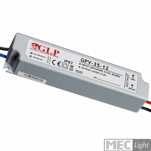 12v-impermeabile-GLP ip67 gpv-35-12 LED Trasformatore-Alimentatore Smd 36w 3a