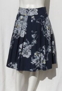 1b9fd3ebbd Image is loading ODILLE-Anthropologie-Navy-Blue-Floral-Print-Full-Mesh-