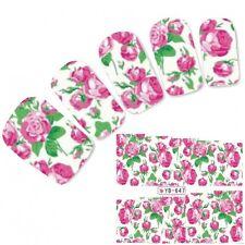 Tattoo Nail Art Flower Aufkleber Blumen Pink Rose Water Decall Neu!