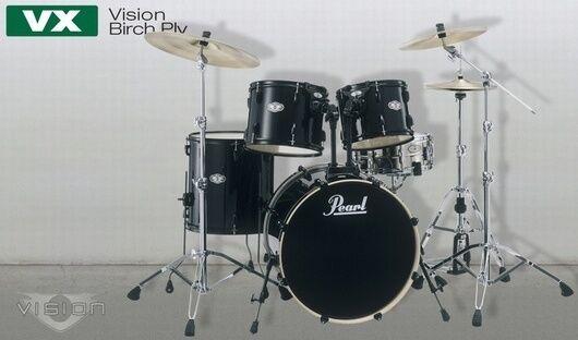 Pearl Vision Jet nero Shellset