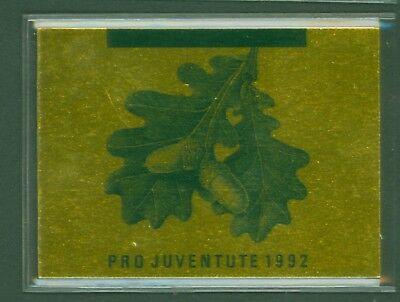 Diplomatisch Schweiz Suisse Switzerland 1992 Bäume Rotbuche Pro Juventute Mh 0-93 ** Verpackung Der Nominierten Marke