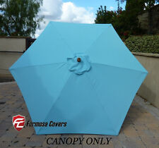 9ft Umbrella Replacement Canopy 6 Ribs in Light Blue  (Canopy Only)