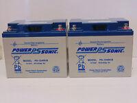 3 X Power Sonic 12v 45ah (38ah 40ah 42ah) Agm/gel Mobility Scooter Batteries