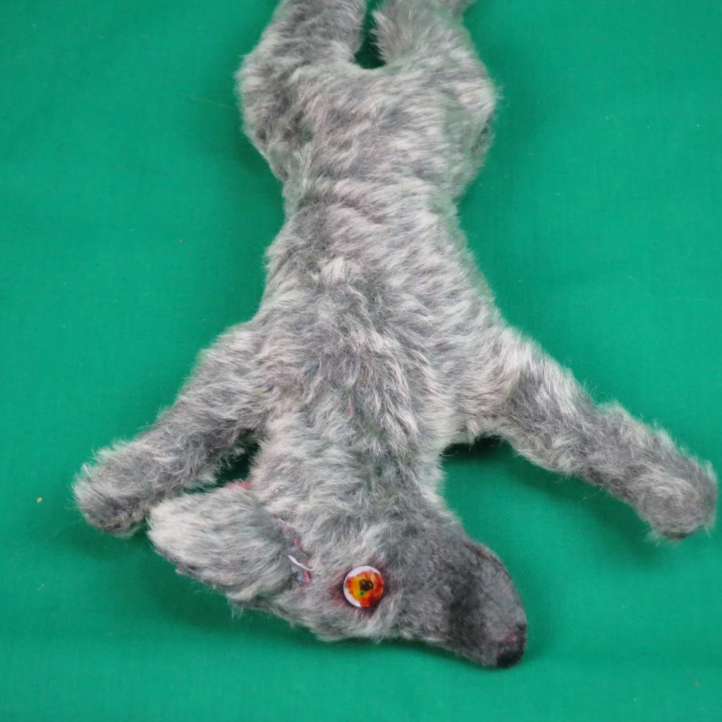 RARE ROADKILL Gris COYOTE DOG SQUISHED FLAT PLUSH STUFFED ANIMAL TOY