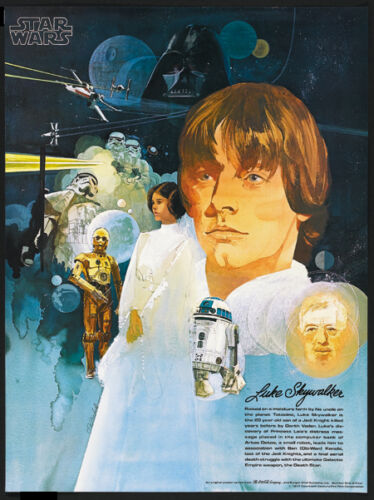 Star Wars 1977 movie poster print #013