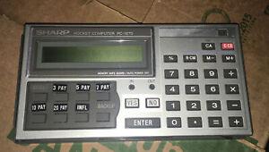 Vintage  Sharp Calculator  PC-1270 Pocket Computer Made in Japan - Not Tested