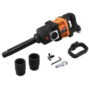 Industrial Air Impact Wrench 1' Pneumatic Compressor Long Shank 1,900ft