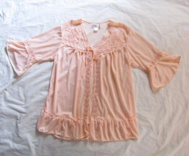 Sindrella Peach Bed Jacket or Robe  Women M