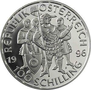 Osterreich-100-Schilling-1996-Millenium-Serie-Markgraf-Leopold-III-Proof-Coin