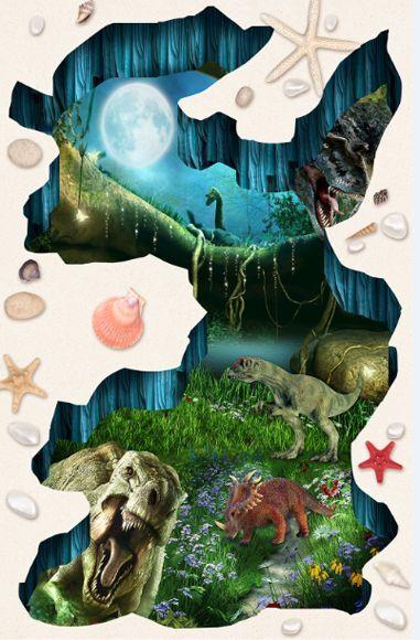 3D Jurassic dragon 432 Floor WallPaper Murals Wall Print Decal 5D AJ WALLPAPER