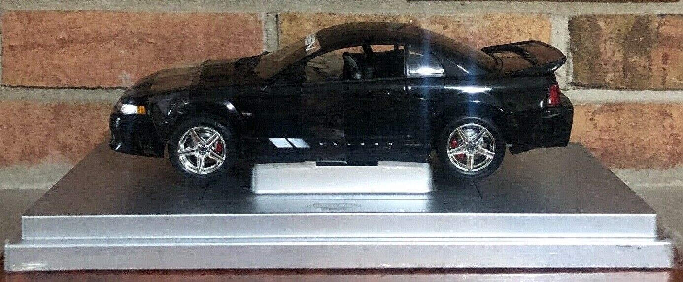 Ertl Elite 2004 Ford Mustang Saleen S281 Coupe Negro Nuevo Rareza Raro 1 18