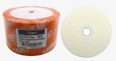 picture regarding Printable Dvd R referred to as 500 Titan Brand name 16X White Inkjet HUB Printable DVD-R DVDR Disc 4.7GB eBay