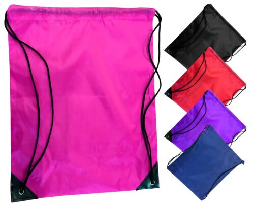 Fitex Nylon Drawstring Bag PE Boys Kit School Club DancKids Girls Sport Backpack