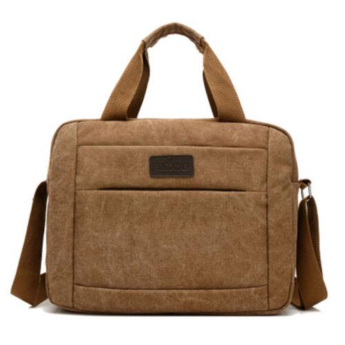 Men/'s Canvas Shoulder Bags Messenger Bag Casual Handbag Tote Business Briefcase
