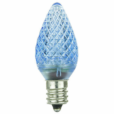 6 Pack Sunlite 80702-SU C7//3LED//0.4W//C//R//6PK LED Candelabra Based C7 Lamp Red