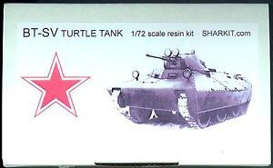Sharkit Models 1/72 SOVIET BT-SV TURTLE TANK Resin Kit