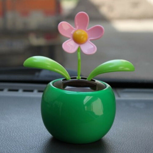 Solar Powered Dancing Flower Swinging Animated Dancer Toys Car Home Decor Hot