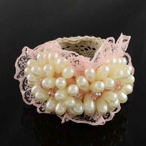 Zopfhalter Hairties Metallring Scrunchie Pigtail  Perlen Strass Spitze braiders