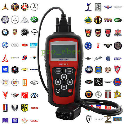 KW808 EOBD OBD2  OBDII Diagnostic Scan Tool Vehicles Car Fault Code Reader