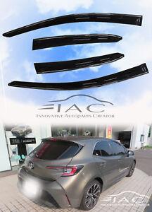 Chrome-Trim-Window-Visor-Guard-Vent-Deflector-For-Toyota-Corolla-Hatchback-2019