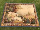 ANTIQUE BRILLIANT FRENCH AUBUSSON TAPESTRY SILK WALL HANGING HAND WOVEN