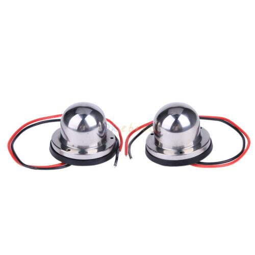 Marine Boat Pontoons Yacht Light 12V Stainless Steel LED Bow Navigation Lights