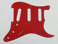 RED 3 Ply RBR SSS SCRATCH PLATE Pickguard to fit USA/Mex STRATOCASTER Strat