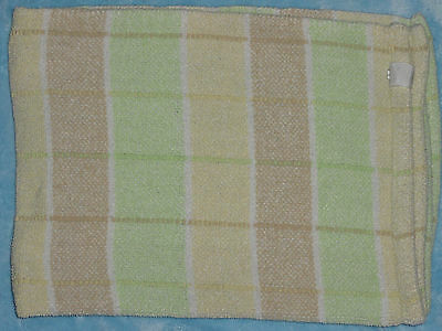 Messages From The Heart Chenille Blanket Plaid Stripe Tan