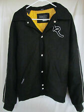 Men's Rocawear Black Wool Varsity Style Jacket~Winter Coat Black~Yellow Size XL