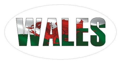 Bags or Cards Wales Flag Oval Seal Labels Envelopes Stickers for Gift Wrap