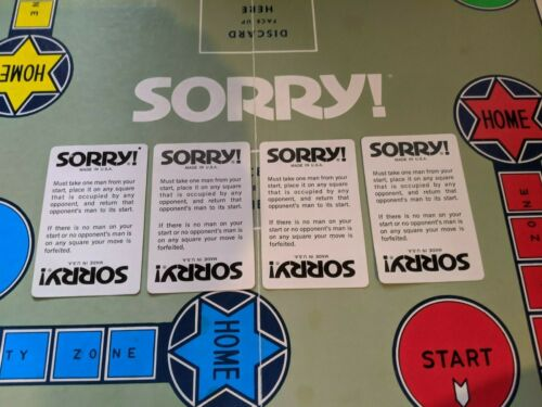 1972 Parker Brothers Sorry Board Game Replacement Parts and Pieces