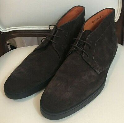 $695 NEW SANTONI ANKLE SUEDE LEATHER