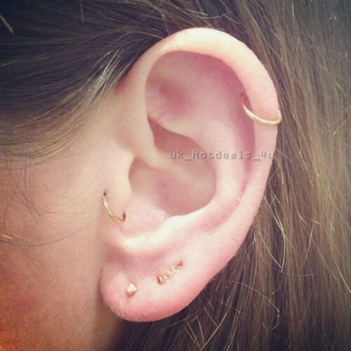 No Piercing Cartilage Earring,Chains Earring 3 band with Chain /& ball Ear cuff