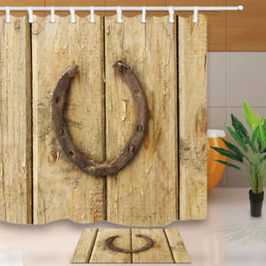 Details About Old Rusty Horseshoe Shower Curtain Bathroom Decor Fabric 12hooks 71 71inches